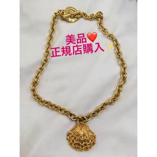 セリーヌ(celine)の美品❤️正規品❤️セリーヌ ロングネックレス シェル❤️ヴィンテージ ゴールド(ネックレス)