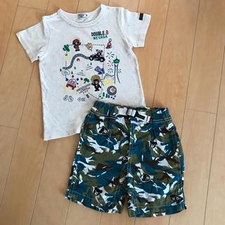 ミキハウス(mikihouse)のダブルB ツアーTシャツ 迷彩パンツ 110(パンツ/スパッツ)