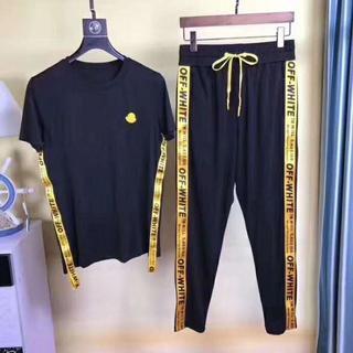 モンクレール(MONCLER)のMONCLER×OFF-WHITE半袖Tシャツ、ジャージ/上下二つ(Tシャツ/カットソー(半袖/袖なし))