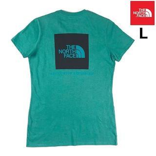 ザノースフェイス(THE NORTH FACE)の売切!ノースフェイス半袖Tシャツ ボックスロゴ 女性用(L)緑 180902(Tシャツ(半袖/袖なし))