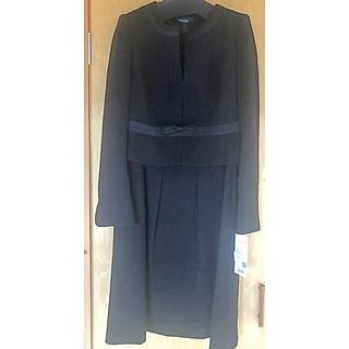 ブラックフォーマル 新品 13号 ネックレス付き(礼服/喪服)
