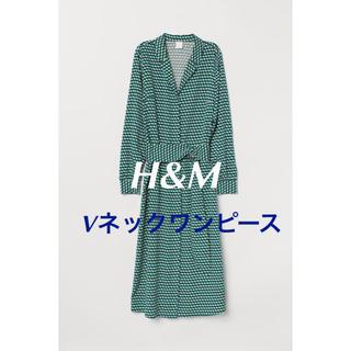 H&M - H&M Vネックワンピース