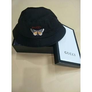 グッチ(Gucci)のGUCCI グッチ 渔夫帽 刺繍 ブラック (ハット)