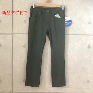 シマムラ(しまむら)の新品  らくちんプルオンパンツ  モスグリーン  Mサイズ(カジュアルパンツ)
