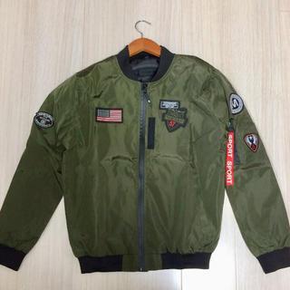 MA-1 ナイロンジャケット ブルゾンミリタリー系puh
