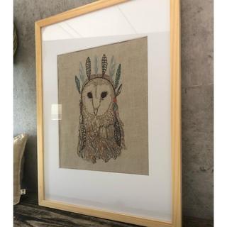 H.P.FRANCE - coral&tusk  Owl Portrait  フレームアート