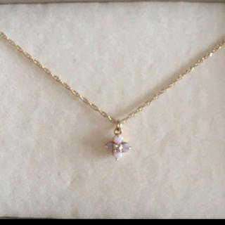 アガット(agete)のアガットk10オパール&ダイヤモンドネックレス(ネックレス)