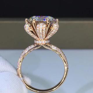 【newカラー】豪華仕様 輝く モアサナイト  ダイヤモンド リング(リング(指輪))