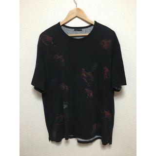 ラッドミュージシャン(LAD MUSICIAN)のラッドミュージシャン  花柄 Tシャツ レッド 42(Tシャツ/カットソー(半袖/袖なし))