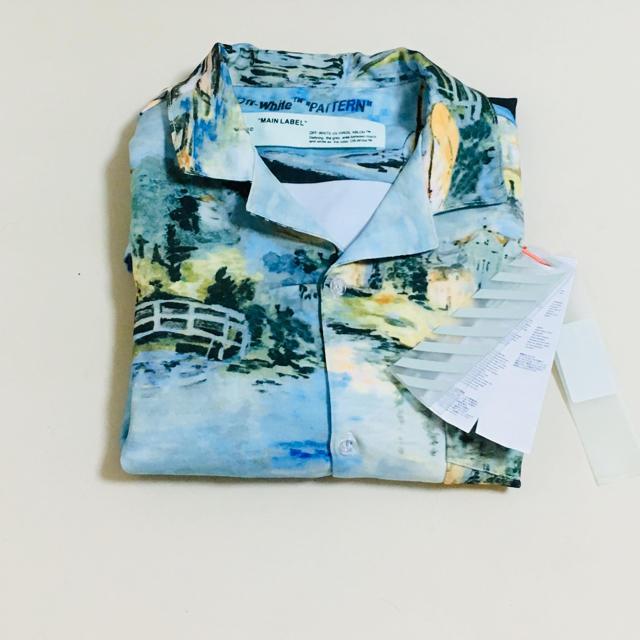 OFF-WHITE(オフホワイト)のオフホワイト/OFF-WHITE  19SS レイクプリントコットン半袖シャツ メンズのトップス(Tシャツ/カットソー(半袖/袖なし))の商品写真