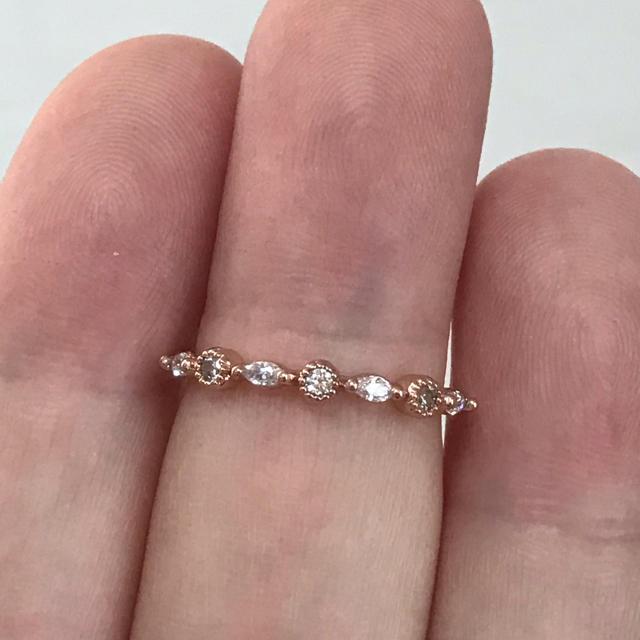 リング 指輪 CZ ダイヤ ピンクゴールド 10号 エテ アガット 好き❤︎ レディースのアクセサリー(リング(指輪))の商品写真