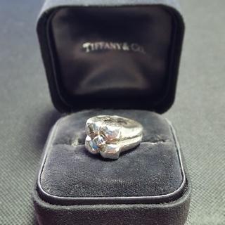 ティファニー(Tiffany & Co.)のTiffany ハマードフラワー リング ITALY(リング(指輪))