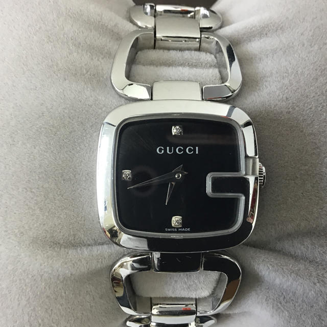 Gucci(グッチ)のGUCCI レディース クオーツ腕時計 125.5 3Pダイヤ グッチ 稼動中 レディースのファッション小物(腕時計)の商品写真