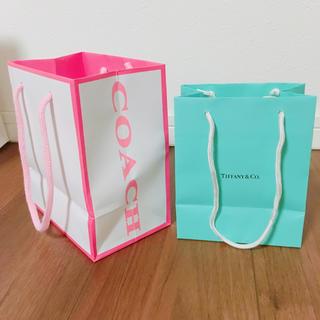 ティファニー(Tiffany & Co.)のショップ袋 2枚セット(ショップ袋)