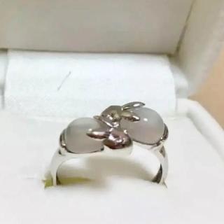 ジュエリーツツミ(JEWELRY TSUTSUMI)の14k  ホワイトゴールド リング(リング(指輪))