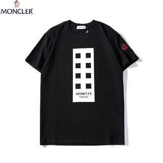 モンクレール(MONCLER)のMONCLER   ブラック メンズ ロゴ Tシャツ(Tシャツ/カットソー(半袖/袖なし))