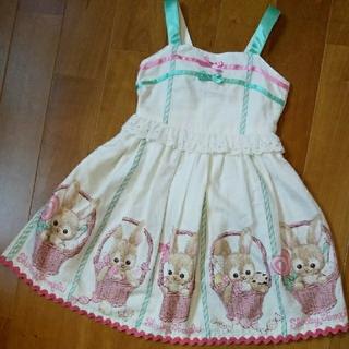 Shirley Temple - うさぎ ジャンスカ 120 シャーリーテンプル ワンピース ジャンパースカート