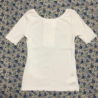 アーバンリサーチ(URBAN RESEARCH)のリブ   カットソー   白(Tシャツ(半袖/袖なし))