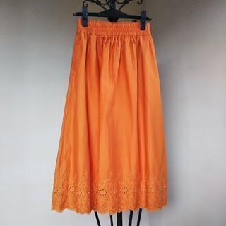 ユニクロ(UNIQLO)のオレンジスカート(ロングスカート)