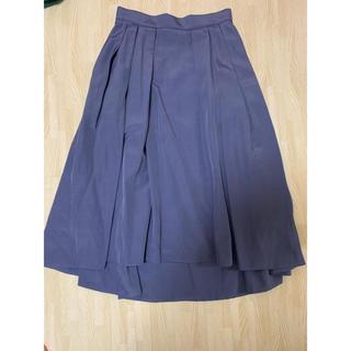 ロペ(ROPE)のタックフレアスカート(ひざ丈スカート)