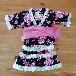 ニシマツヤ(西松屋)の【新品】 95 甚平ドレス スカートタイプ 帯つき3点セット(甚平/浴衣)