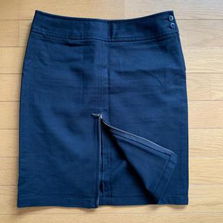 ユニクロ(UNIQLO)の【新品未使用】ジップ付き タイトスカート(ひざ丈スカート)