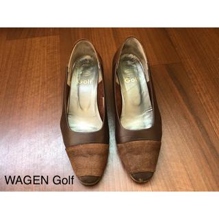 WAGEN Golf ワーゲンゴルフ 茶 パンプス 24.5cm(ハイヒール/パンプス)