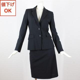 イネド(INED)のイネド スカート スーツ 9 黒 M 清涼 05 tqe 春夏 ★極美品★(スーツ)
