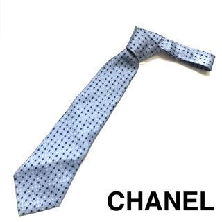 シャネル(CHANEL)のCHANEL シャネル ネクタイ メンズ ブルー おしゃれ おすすめ (ネクタイ)