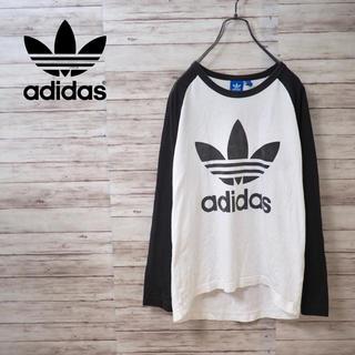 アディダス(adidas)のAdidas Originals トレフォイルロゴ ラグランロンT リンガーT(Tシャツ/カットソー(七分/長袖))