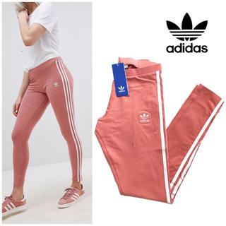 アディダス(adidas)のAdidas originals スリーストライプ レギンス新品ピンク(レギンス/スパッツ)