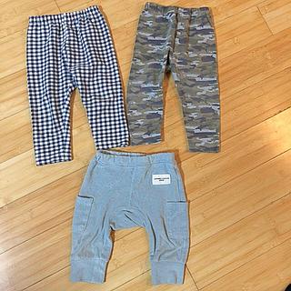 ユニクロ(UNIQLO)の80サイズ ズボン3枚セット(パンツ)