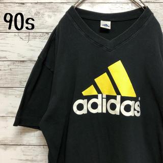 アディダス(adidas)の【90s】古着  アディダス パフォーマンスロゴ Tシャツ デサント製 Lサイズ(Tシャツ/カットソー(半袖/袖なし))