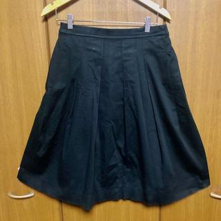 ユニクロ(UNIQLO)の【送料無料】ユニクロ 黒スカート ミモレ丈 L(ひざ丈スカート)