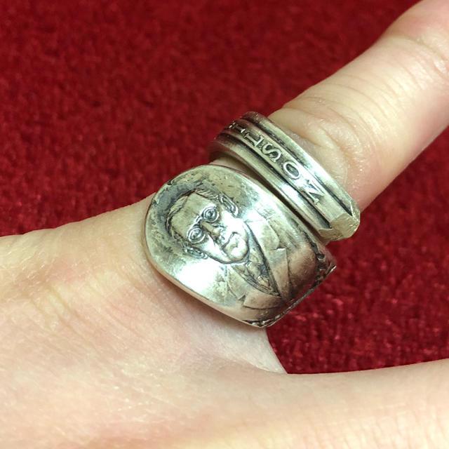 アンティーク リング スプーンリング ヴィンテージ 13号 調可 大統領 178 メンズのアクセサリー(リング(指輪))の商品写真