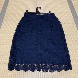 ユニクロ(UNIQLO)のUNIQLOレースタイトスカート未着用(ひざ丈スカート)