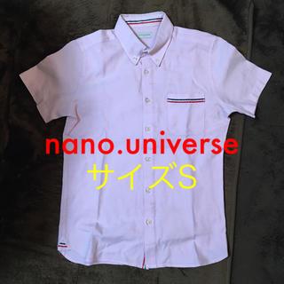ナノユニバース(nano・universe)の❤️nano.universe  半袖ボタンダウンシャツ  サイズS(シャツ)