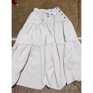シマムラ(しまむら)のしまむら ボタンつかい ティアード スカート (ロングスカート)