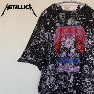 古着☆人気 メタリカ Metallica Tシャツ 半袖 ビッグプリント スカル(Tシャツ/カットソー(半袖/袖なし))