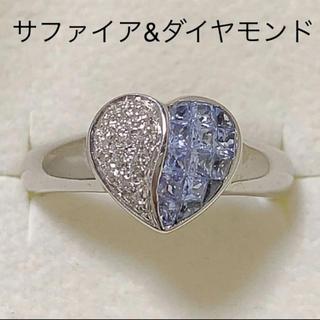 JEWELRY TSUTSUMI - k18WG  サファイア ダイヤモンド リング