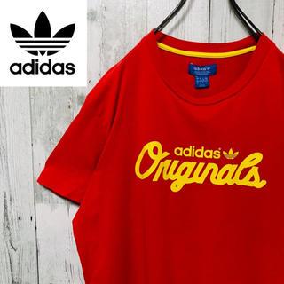 アディダス(adidas)のアディダスオリジナルス☆トレフォイルロゴ ビッグロゴ レッドTシャツ 古着女子(Tシャツ/カットソー(半袖/袖なし))