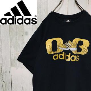 アディダス(adidas)のアディダス adidas☆ビッグロゴ スニーカーロゴ ゴールド Tシャツ(Tシャツ/カットソー(半袖/袖なし))