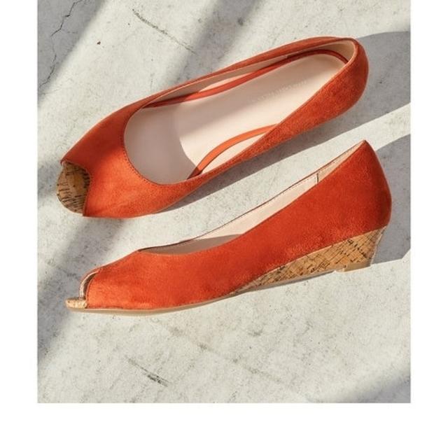 green label relaxing(グリーンレーベルリラクシング)の新品!グリーンレーベルリラクシング  プレーンウェッジ オープントゥパンプス レディースの靴/シューズ(ハイヒール/パンプス)の商品写真