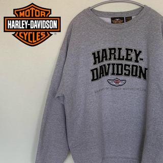 ハーレーダビッドソン(Harley Davidson)の古着☆人気 ハーレーダビッドソン スウェット デカロゴ  USA製 XL グレー(スウェット)