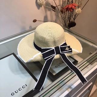 グッチ(Gucci)のグッチ  麦わら帽子  春夏物  カワイイ(麦わら帽子/ストローハット)