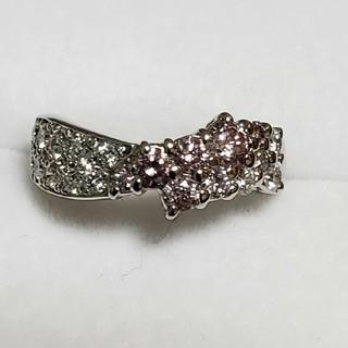 プラチナ 0.73ct ピンク&ダイヤモンド リング(リング(指輪))