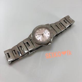 SEIKO - セイコー 10pダイヤ ルキア 腕時計 【電池交換済み】