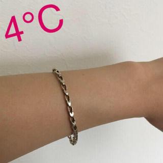 4℃ - 4℃ シルバー ブレスレット ♡ハート型♡