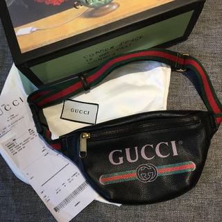 グッチ(Gucci)のSサイズ GUCCI ロゴバッグ ベルトバッグ 新品(ボディーバッグ)