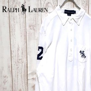 ラルフローレン(Ralph Lauren)のラルフローレン 長袖 ポロシャツ 刺繍ロゴ プルオーバー ナンバリング(ポロシャツ)